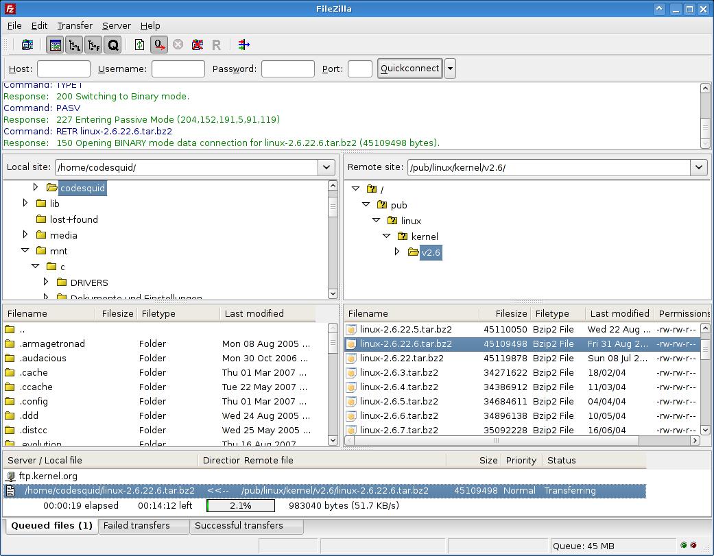 Скачать бесплатно файлы для FileZilla for Linux - GorunD.net.